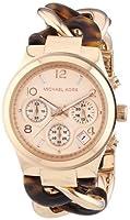 Michael Kors MK4269 - Reloj de cuarzo para mujer, con correa de acero inoxidable, color marrón de Michael Kors