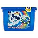 Dash Pods 3 in 1 Detersivo in Monodosi Salva Colore, 2 x 15 Lavaggi, Rimozione delle Macchie ed Alto Potere Pulente
