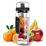 Welltop Fruit Infuser Water Bottle, BPA-Free Water Bottle Large Capacity Water Bottle 946ml/32oz