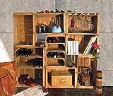 Cassette della frutta,portabottiglie,libreria,arredo wine bar modulare composto da 9 cassette vintage cm 51x31x28 // casse mela, legno, Shabby,arredamento, upcycling, rustico.