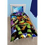 Teenage Mutant Ninja Turtles Dimension Panel Print Juego de funda nórdica, polyester-cotton, multicolor, Single