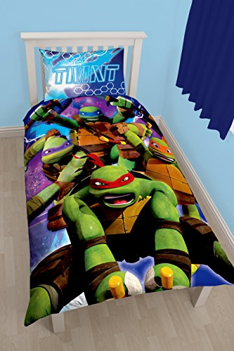 Teenage Mutant Ninja Turtles Dimension Panel Print Bettbezug-Set, Polyester-, mehrfarbig, Single