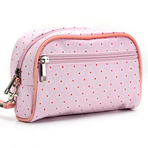 CYBERRY.M Sac De Maquillage De Stockage Portable Stripe (Rose) Opsl6V