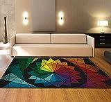 XMMGCDT Teppich Wohnzimmer Textilmatte des Abstrakten Teppichschlafzimmers Bunte Für Küchenboden Mattendecke des Wohnzimmerteppichs 3Dzuhause Dekoration,80 * 150Cm