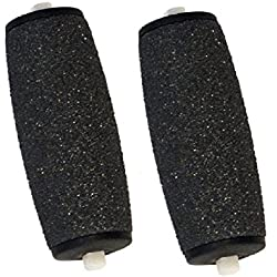 Inditradition Foot File Roller Refill Heads | Compatible With All Electronic Pedicure & Foot File Roller | Pack of 2 (Black)