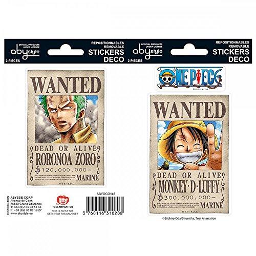 One Piece - Wanted - Aufkleber | Original Manga Anime