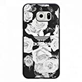Floral Designs Phone Hülle,Adidas Samsung Galaxy S6 Edge Cover,Protection Hülle Logo Cover for Adidas Logo