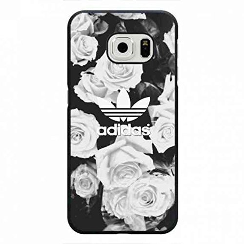 Preisvergleich Produktbild Floral Designs Phone Hülle,Adidas Samsung Galaxy S6 Edge Cover,Protection Hülle Logo Cover for Adidas Logo