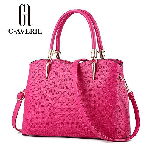 (G-AVERIL)nuovo pacchetto onda signore borsa Messenger Bag donne per le donne borsa rosa rossa