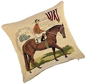 """Housse Coussin–Superbe 45,7cm (45cm) tappestry style étui """"N ° 5,1cm pour cheval"""