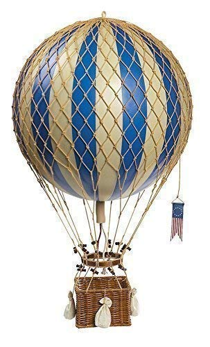 Étoile hélium ballon bleu et blanc royale aviation, 32 cm
