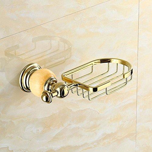 MSAJ-Golden jade SOAP NET poliertes Mosaik Zirkonium Zinklegierung vergoldet Seifenschale -