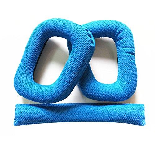 LEORX Weichschaum Ear Pads Ohr Kissen Stirnband Kissen Austauschkissen Logitech G430 G930 Kopfhörer (blau)