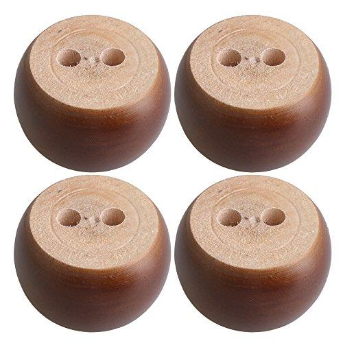 Braun Eukalyptus Holz Runde Möbel Beine Füße 100 kg Lager Gewicht für Sofa Schränke Tische Bett Satz von 4 stück (Lager-sofa)