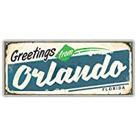 SkyBug Orlando Retro City Sign Travel Bumper Sticker Vinyl Art Decal for Car Truck Van Window Bike Laptop
