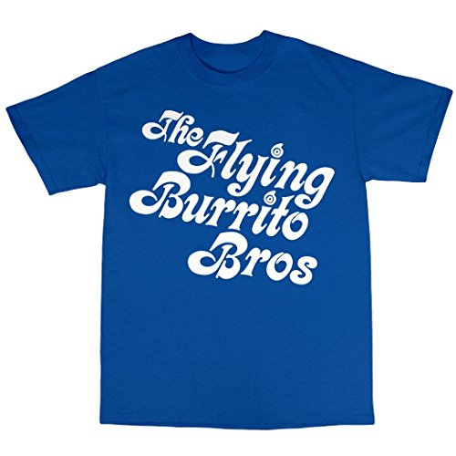 The Flying Burrito Brothers T-Shirt 100% Baumwolle Königsblau