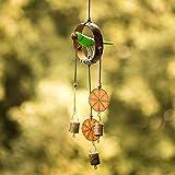 ExclusiveLane Parrot Home Decorative Hanging Cum Outdoor Garden Bells Wind Chime (Multicolour, Wood)