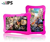 Special Offer IPS Kids Tablet - Tecwizz 7 Inch Kids Jumbo IPS Tablet PC Bundle (Quad Core, 8GB, HD, Google Android Kitkat 4.4, WIFI Enabled) + Extra Heavy Duty Kid Proof Silicon Case (Pink)
