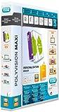 ELBA 100201774 Kunststoff-Ringbuch polyvision Maxi DIN A4 4 Ring-Mechanik 2,5 cm breit Präsentations-Ordner Ring-Buch Hefter Plastikordner transparent