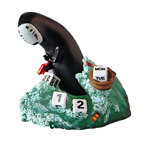 Spirited Away No Face calendario Micro paisaje resina figura Craft