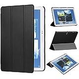 tinxi® PU piel funda para Samsung Galaxy Note 10.1 2014 Edition / Samsung Galaxy Tab Pro 10.1 pulgadas protectora Cover Tablet Notebook Case con el negro fondo