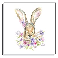 "Evans Lichfield Country Floral Hare Brown Lilac Canvas Wall Art Picture 40cm - 16"" by Canvas"