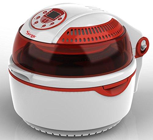 Sirge FRYLIGHT Friggitrice ad aria AUTOMATICA con cottura senza olio e grassi Capacità 10 Litri DIGITALE Forno Turbo Multifunzione Fornetto Ventilato MULTICOOKER low-oil 1400 Watt - 80% di grassi in meno - Cottura 3D - 7 Programmi Automatici e PROGRAMMABILE - Frigge / Griglia / Arrostisce ad aria, senza grassi! Leggero, Salutare e Veloce