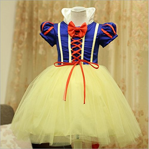 Girl 's Mädchen Snow White Princess Halloween Party Kleid Kleidung Karneval Cosplay (Dress Kleidung Up Brust)