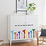 HCCY Schönes cartoon Farbe giraffe Fries posted Kicks - Schrankbett für Kinder und Kindergärten sind Plakate 142 * 40 cm, Giraffe