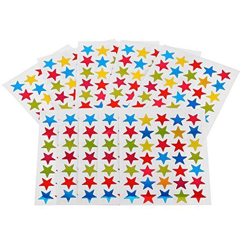 80 Hojas Pegatina Estrella Etiquetas Adhesivas Estrella