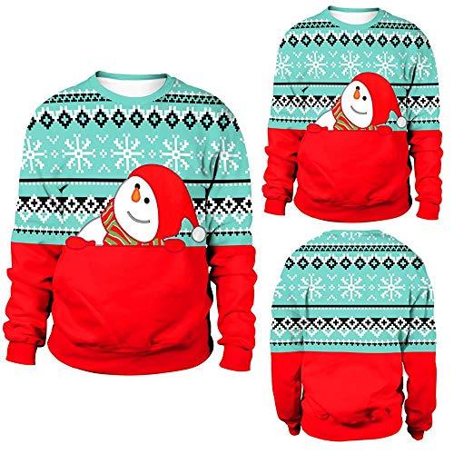 ten der Frauen Plus Größen Pullover gedrucktes Sweatshirt übersteigt Bluse Weihnachts Freizeit LässigeKapuzenpullover mit Langen Ärmeln ()