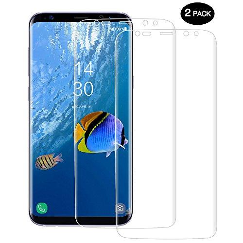 Schutzfolie für Samsung Galaxy S8 [Vollständige Abdeckung], CUXUS 2 Stück Galaxy S8 Displayschutzfolie, Klar HD Ultra, Blasenfreie, Einfache Installation, Anti-Fingerabdruck, HD-Qualität Schutzfolie