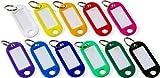 110 Schlüsselanhänger zum Beschriften   11 verschiedene Farben   10 Schlüsselschilder pro Farbe   aus Kunststoff mit auswechselbarem Etikett