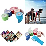 1 rotolo 5cm x 5m Kinesiologia Sport elastico nastro Dolore muscolare cure terapeutiche