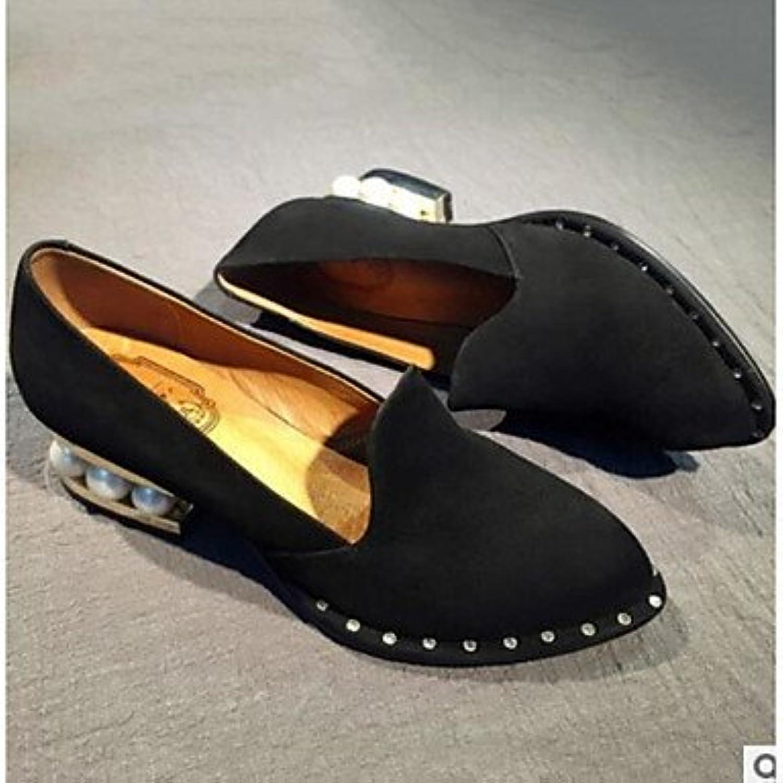 Tacones Mujer Otoño Invierno Pu Confort Confort Informal Plana Negra Nos Negro4-4.5 / Ue34 / Reino Unido2-2.5...