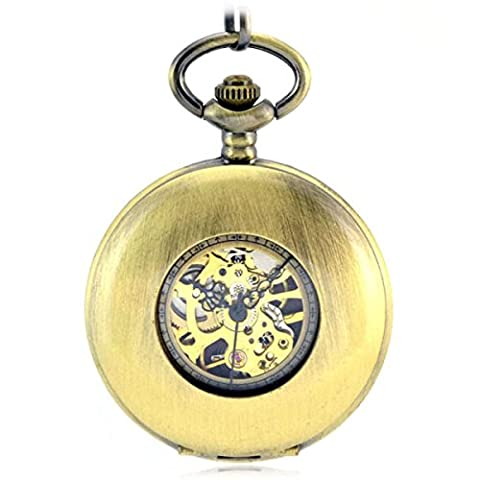 SNHWARE Cloak Retro Mechanical Pocket Watch With Green Ancient Polished Hollow Gift Memorial Table