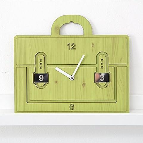 YANYANGXIN Moderne bunte stummer Wanduhr Home Office Decor Geschenk für Küche Wohnzimmer Schlafzimmer Cartoon Wall Clock/10 Zoll/Grün