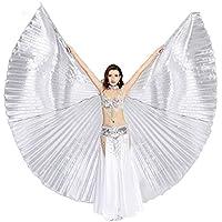 Dance Fairy Danza del Vientre ISIS alas con los Bastones/Varillas, Plata