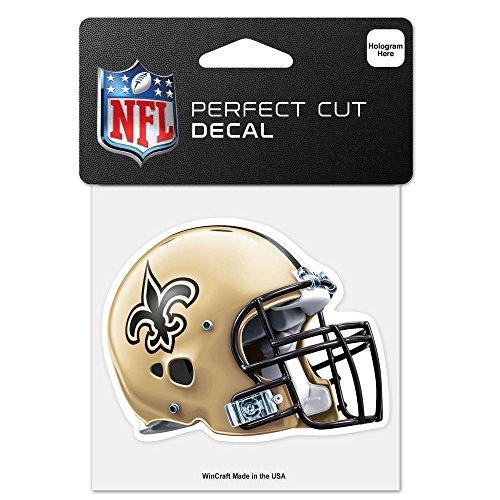 Wincraft NFL New Orleans Saints 95754010perfekten Schnitt Farbe Aufkleber, 10,2x 10,2cm schwarz -