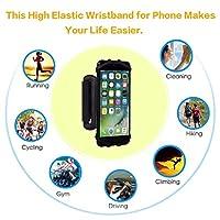 Rotation Jogging Armband Case Cover Holder Running Wrist Band For Mobile Phone Rotating Wristband Phone Holder Black