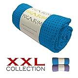 Yogabum XXL Antiscivolo Asciugamano Tappetino Yoga Premium (Blue)