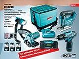 Makita DK1490 Combo-Kit 10,8 V (DF330D+HS300+JV100+ML101+MR051), 3 Akkus und Ladegerät
