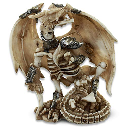 mtb more energy Deko Figur ''Undead Dragon Warrior'' - Drache Skelett Krieger Figur Dekoration