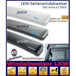 Tuning-Pro Climair LKW-Windabweiser Fahrer- u. Beifahrertür 046062, Farbausführung: glasklar