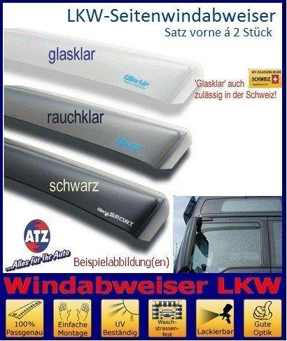 Tuning-Pro Climair LKW-Windabweiser Fahrer- u. Beifahrertür 046053, Farbausführung: schwarz