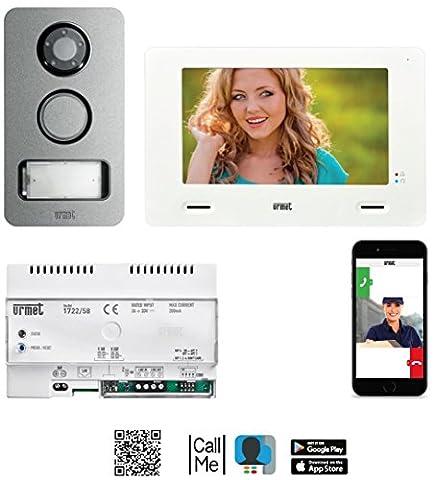 Urmet Visiophone 1722/858Touch Screen 2Fil mono + 1722/58Transmets appelée