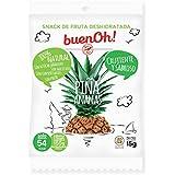 Piña deshidratada crujiente - Pack 18 x 15g - Sin azúcar añadido, sin gluten, sin aditivos y sin freír. 100% Natural. Ideal para aperitivos, dietas y veganos