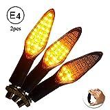CCAUTOVIE LED Blinker Motorrad E Geprüft Universal LED Blinker Tagfahrlicht Motorrad Blinker...