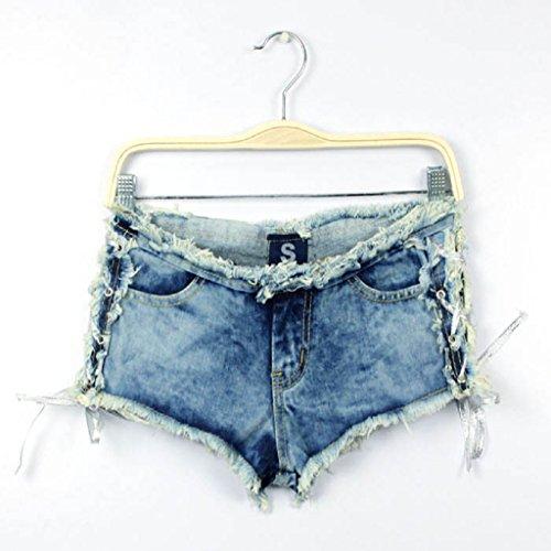 Kanpola Frauen Denim Jeans Camouflage Kurz Shorts Hot Low Taille Hosen (Schnee Weiße Kleider Für Erwachsene)