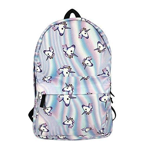 MSHIER Unicorn Mochila 3d impresión para viajes escuela mochila para las niñas adolescentes